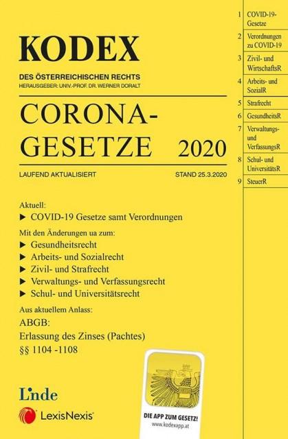 Kostenlos: Alle Corona-Gesetze - Digitaler KODEX-Band zu Corona